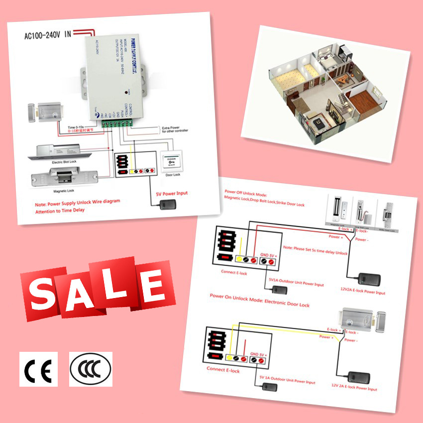 """2.4G Wireless 7"""" Monitor Video Door Phone Intercom Doorbell Home Security System"""