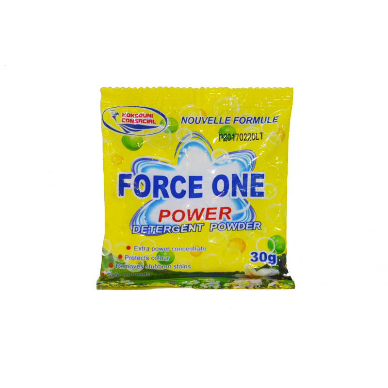 30g Small Package High Foam Cheap Price Detergent Powder for OEM/ODM