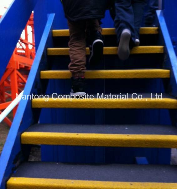 GRP Fiberglass Stair Tread Covers/Anti-Slip Stair Treads
