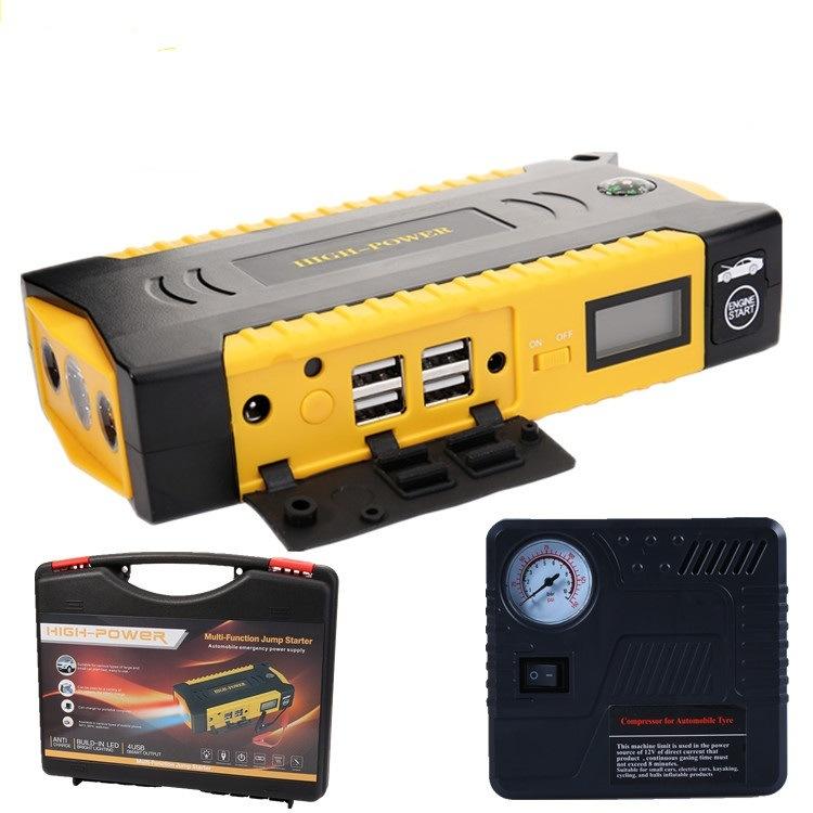 69800mAh 12V 4USB Esp Lights Battery Charger Power Bank Car Jump Starter with Compass