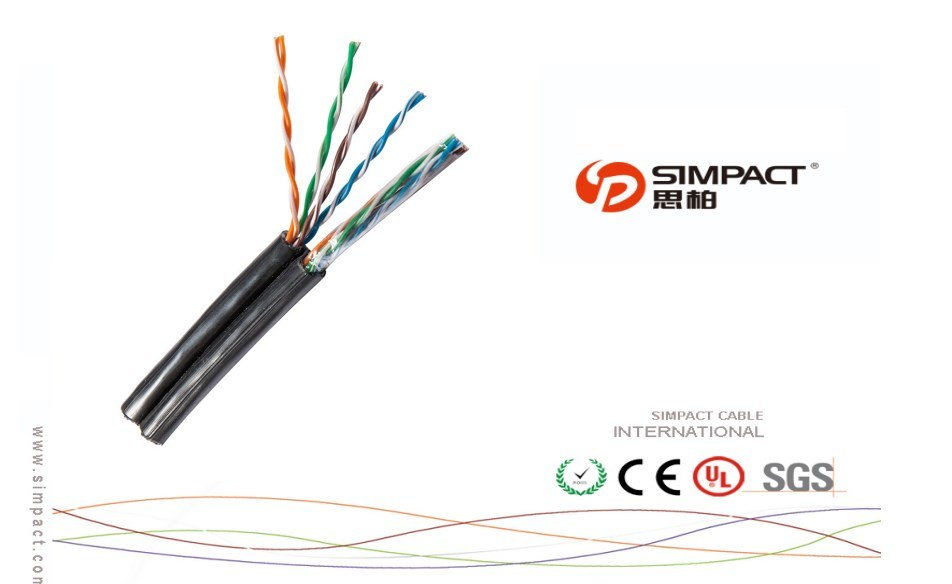 CPR Approved Outdoor FTP Cat5e 4p with Messenger