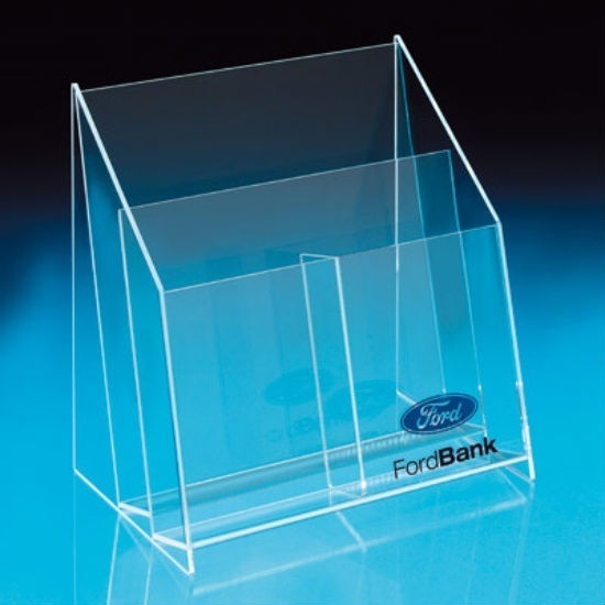 Customized Ad-182 Acrylic Clear Sign Menu Brochure Holder