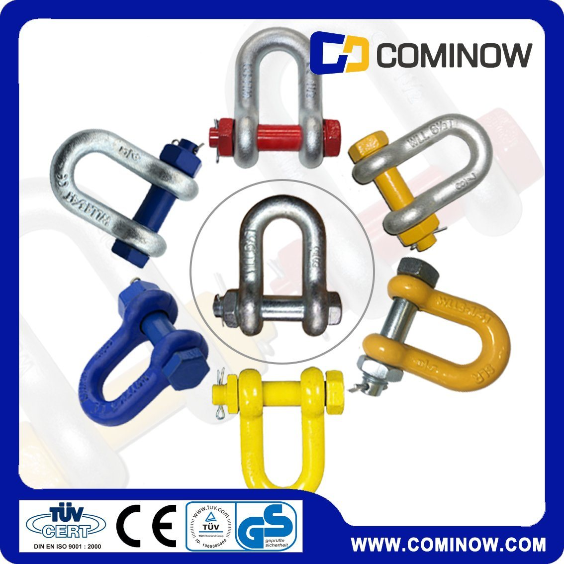 High Tensile Drop Forged Anchor Chain Shackle with Bolt and Nut / G2150 Us Type Dee Shackle