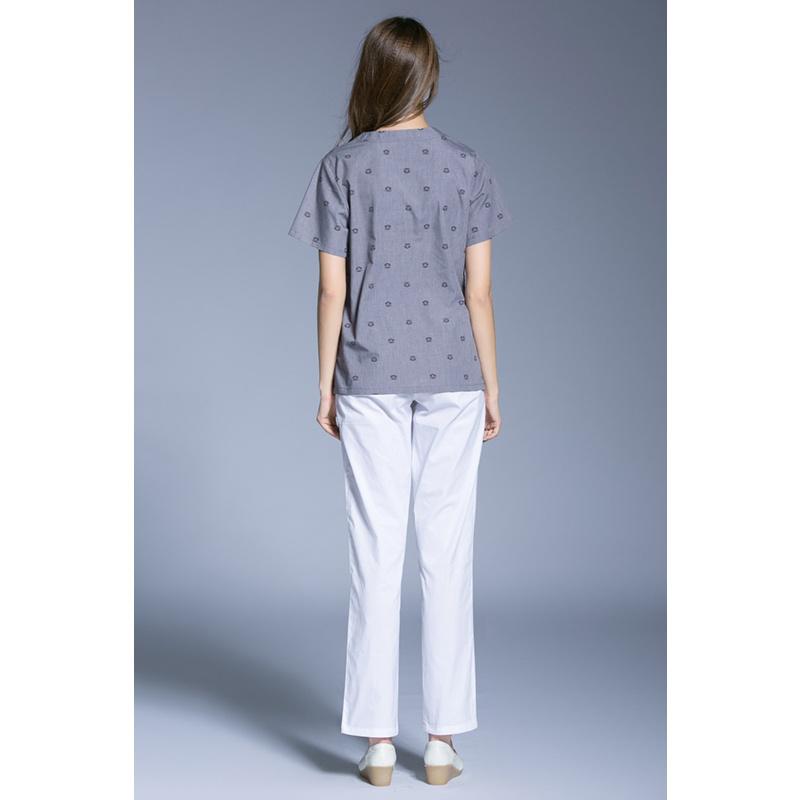 Unisex Scrubs Top &Bottom Medical Nursing Uniform of Cotton