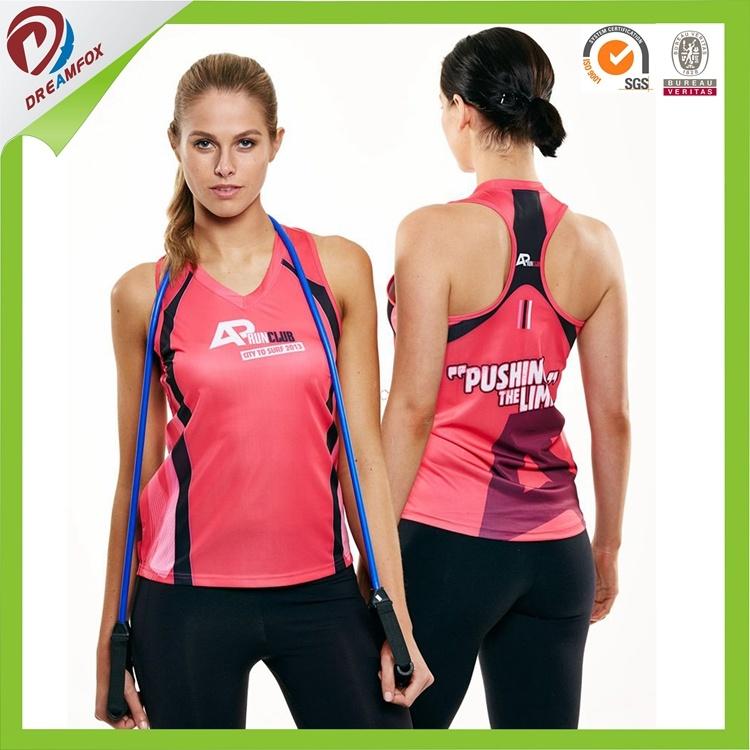 Cheap OEM Custom Design Sportswear Printed Running Yoga Wear Singlet
