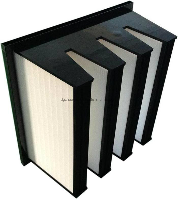 90%-99.99% Replacement HEPA V Shape Filter for Clean Equipment