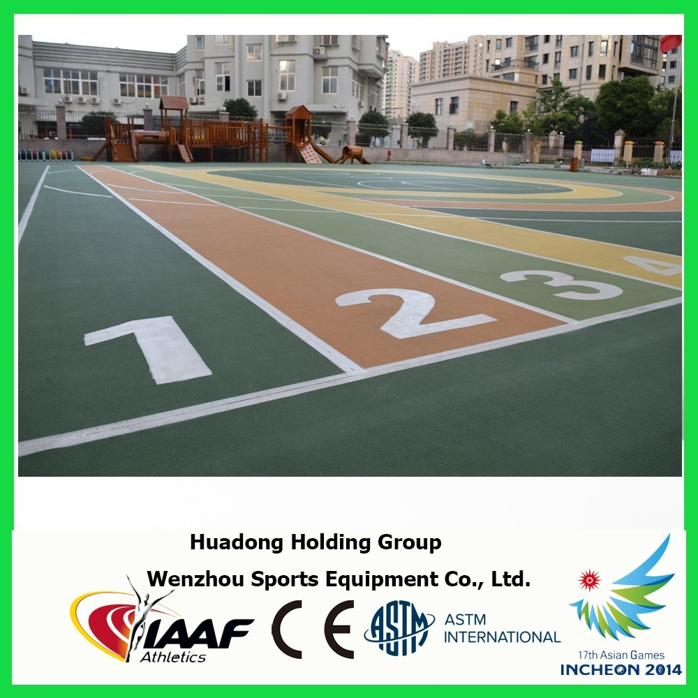 Outdoor Multi-Use Sports Volleyball Basketball Court Rubber Flooring Mat