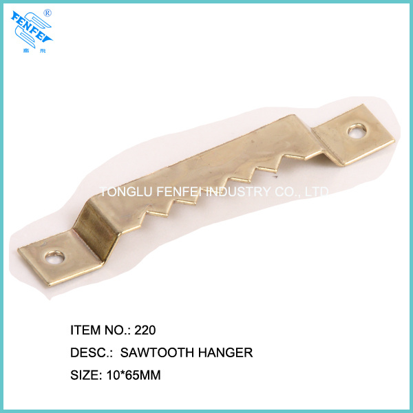 Brass Large Sawtooth Hanger 220