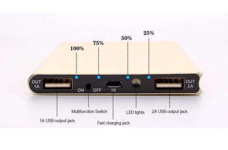 20000mAh Universal Dual USB Solar Charger Ultra Slim Laptop Power Bank Portable External Battery Solar Power Bank Free Logo Offered