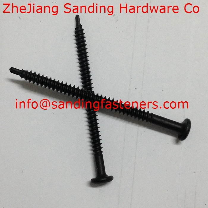 Pan Head Harden Black Zinc Plated Self Drilling Screw