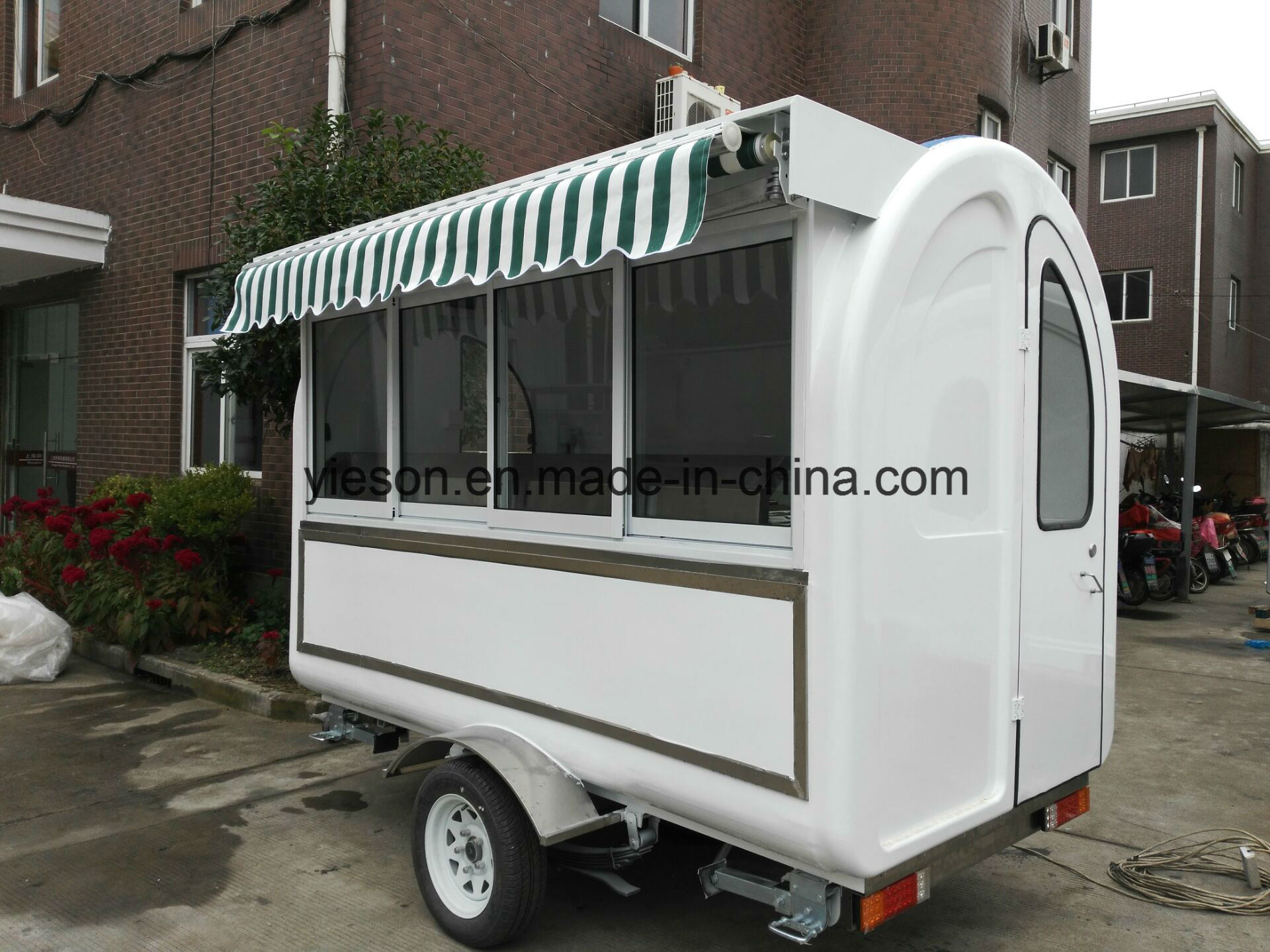 Sliding Glass Windows Mobile Snack Trailer