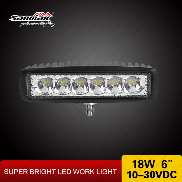 6.3 Inch 18W Marine White LED Work Light