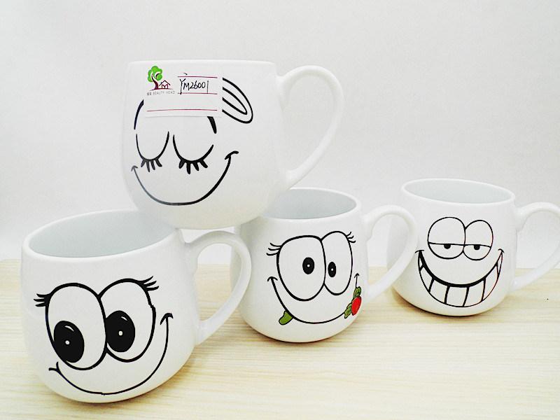 Cute Design White Ceramic Mug