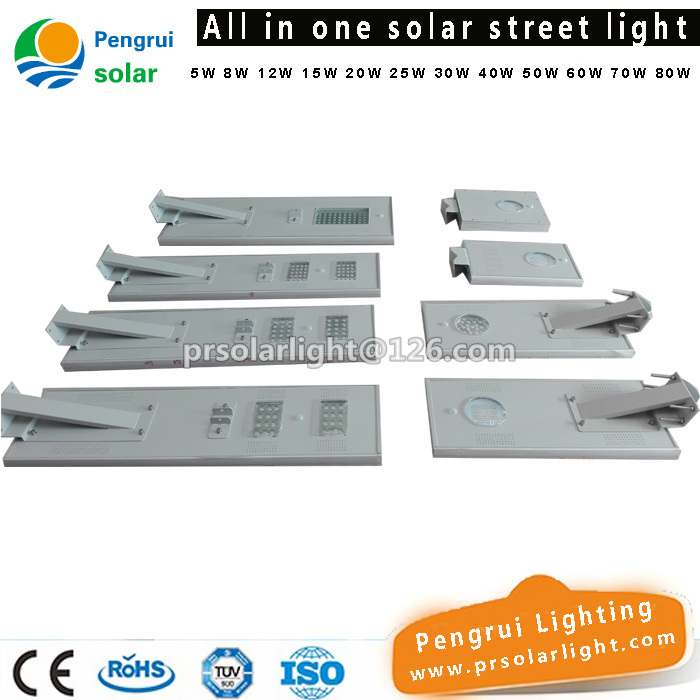 30W Energy Saving All in One Integrated Solar Street Lamp