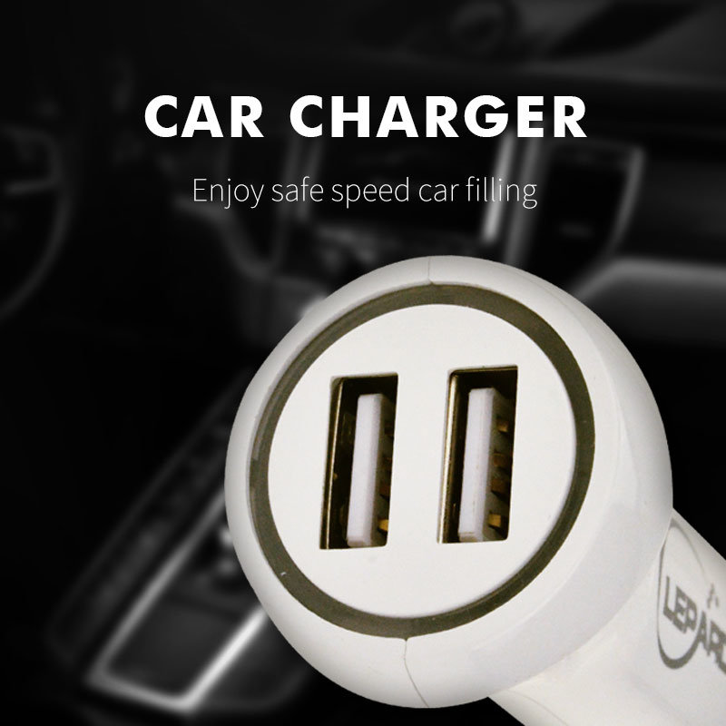 Double USB Car Charger Universal 3.1A Dual Port USB Cell Phone Charger (XS-LC165)