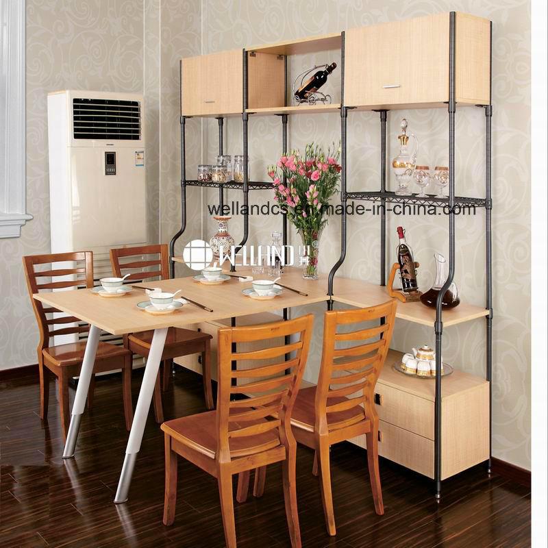 2017 New Design Adjustable Steel-Wooden Furniture for Dining Room