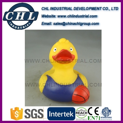 Promotional Floating Yellow Rubber Vinyl Duck for Baby Bath
