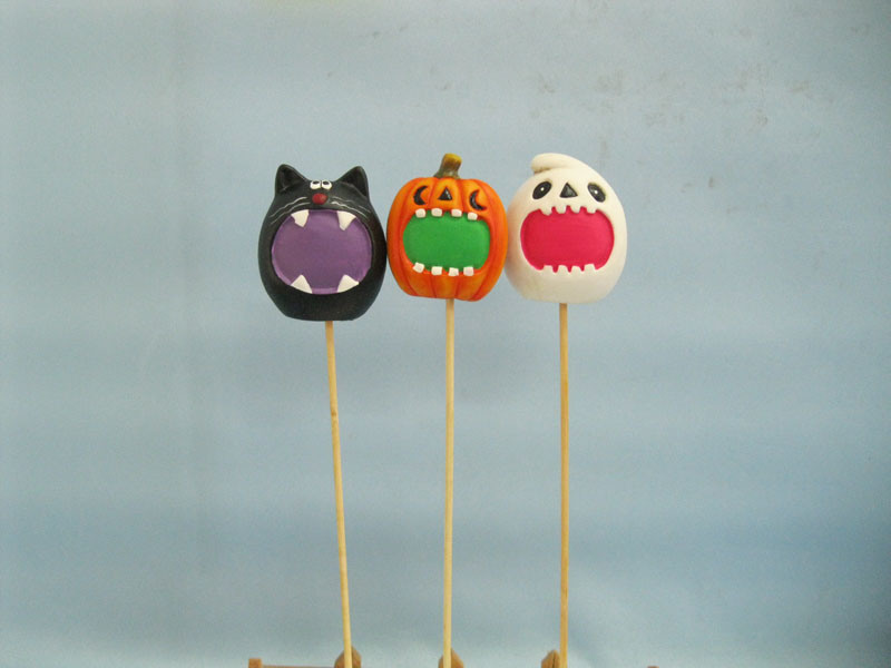 Halloween Pumpkin Ceramic Arts and Crafts (LOE2373-6p)