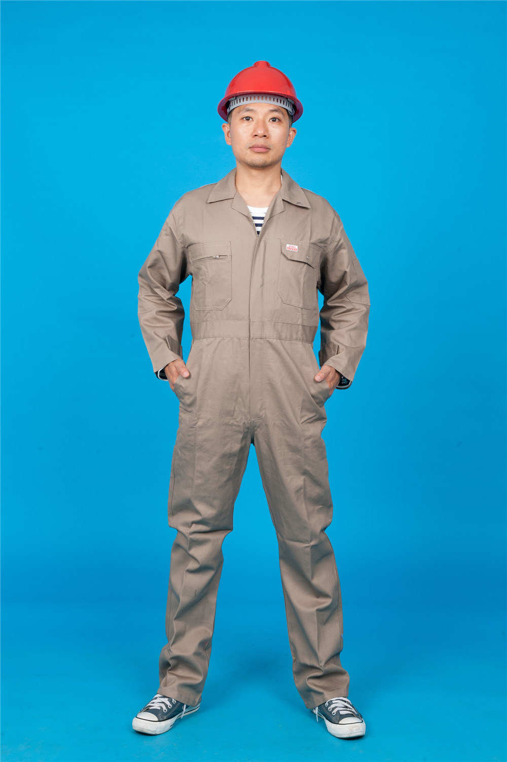 65% Polyester 35%Cotton Long Sleeve Safety High Quolity Cheap Coverall (BLY1024)