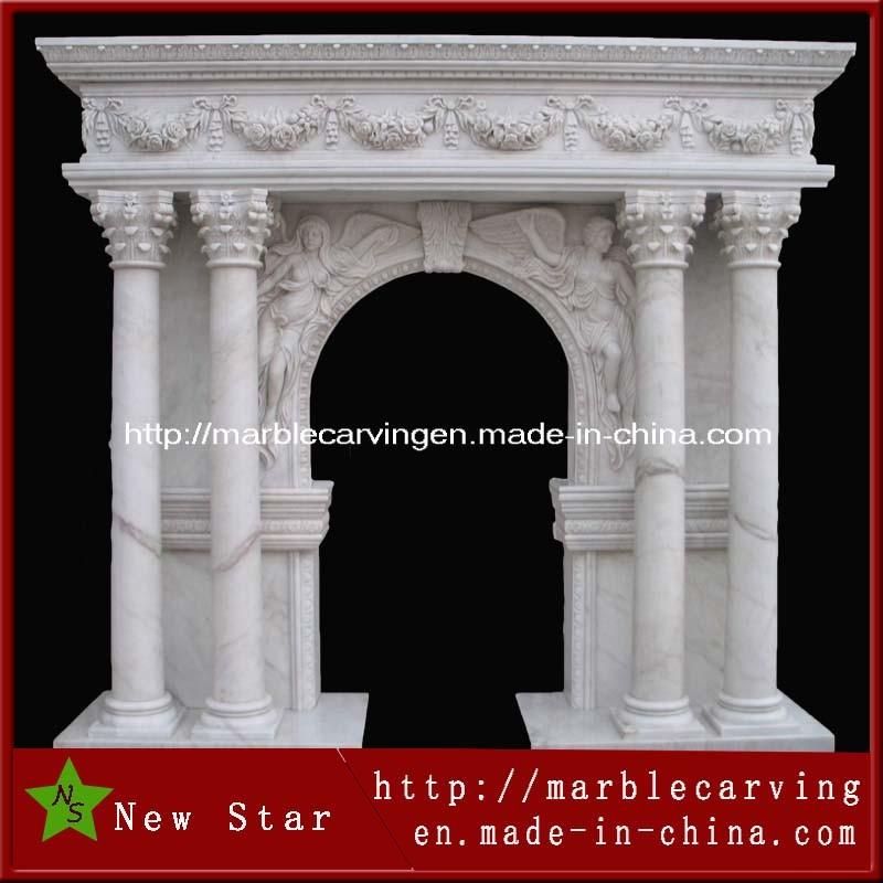 White Stone Marble Door Surround Window Mentel