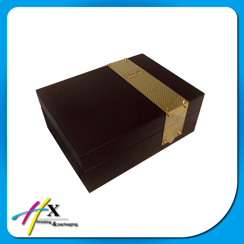 Classical Custom Wooden Leather Watch Packaging Gift Box for Watches