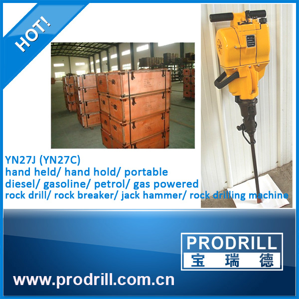 Internal Combustion Handheld Yn27c Rock Drill Drilling Machine
