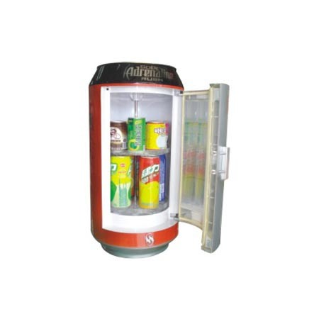 Coke Can Alike Mini Fridge 16liter DC12V with Adaptor (100-240V) for Cooling