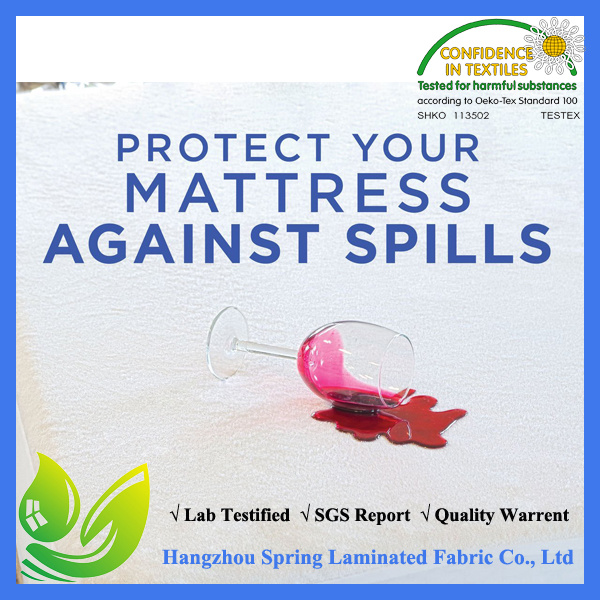 2017 Amazon Hot Sell Premium Waterproof Mattress Protector- Anti-Bacterial, Hypoallergenic Anti- Dustmites-10 Year Warranty
