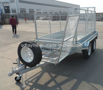 Car Ramp Box Caged Trailer