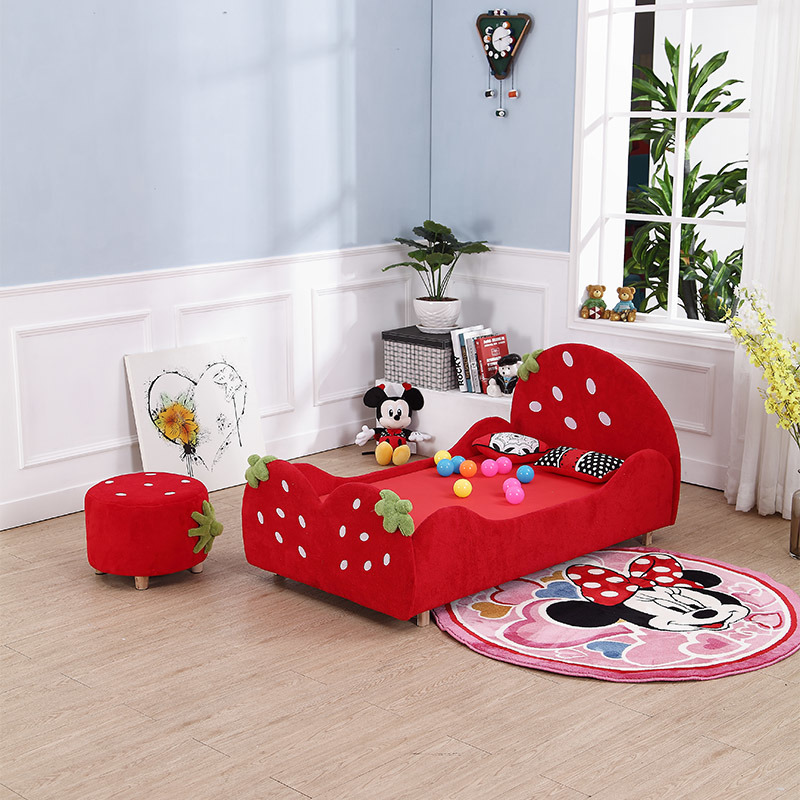 Beautiful Kid′s Bunk Bed Strawberry Model Bed for Kids Bedroom Furniture