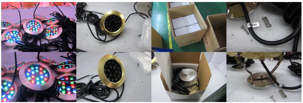 Newest 100% Waterproof Brass 6*3W Multi Color LED Swimming Pool Light, LED Swimming Pool Light for Fountains.