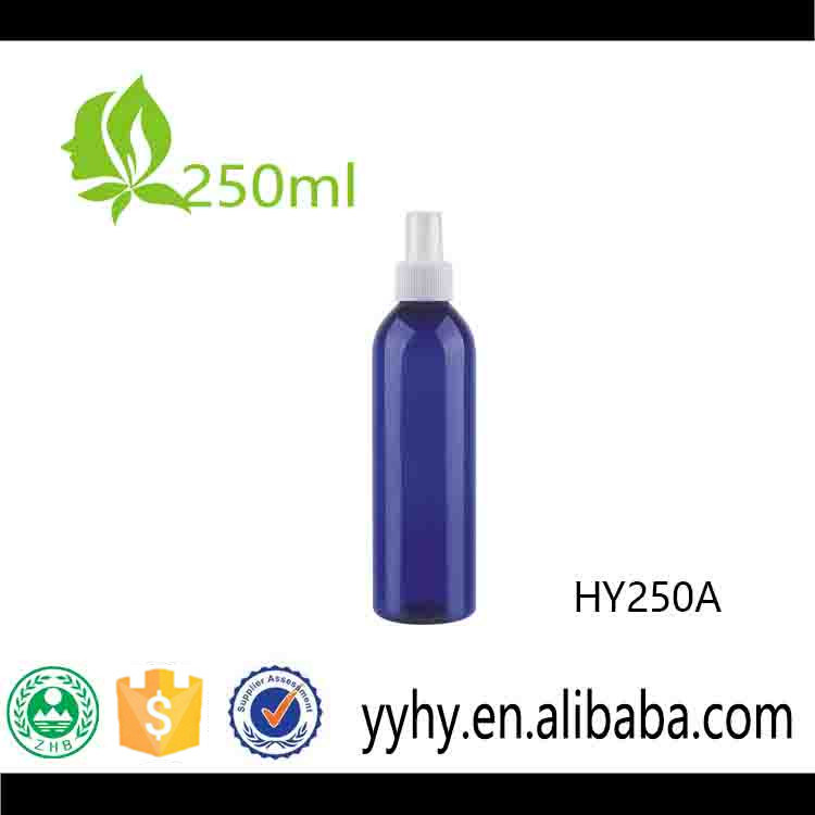 250ml Round Pet Fine Mist Spray Bottle