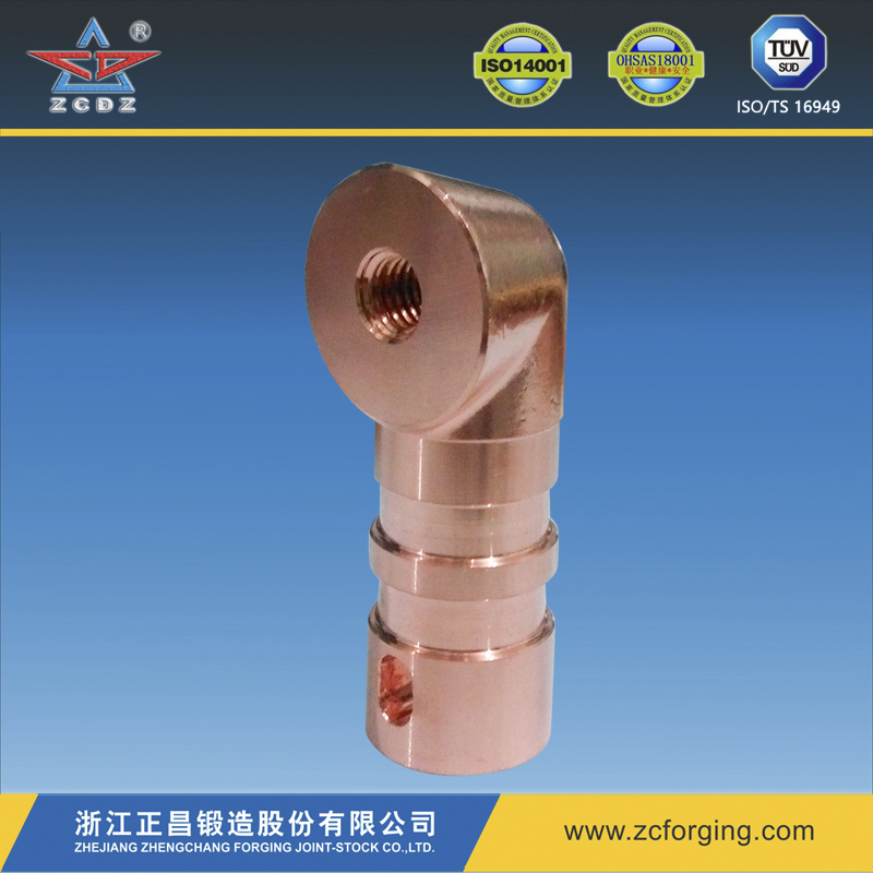 Forging Copper Fitting by Hot Forging with Machined