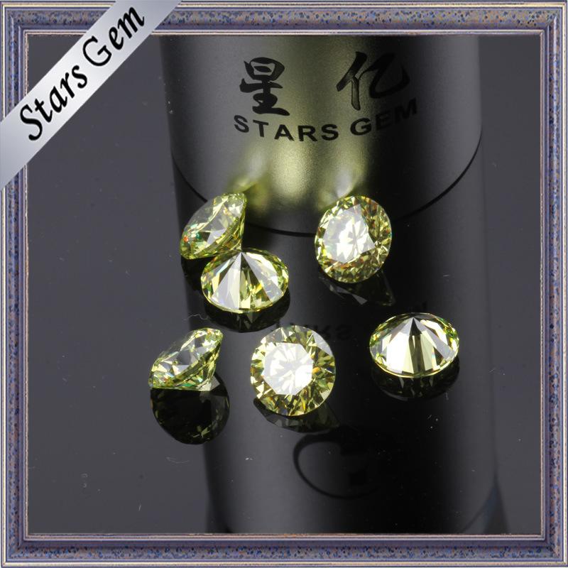 Popular Yello-Green Shining Luminous Cubic Zirconia CZ Stone