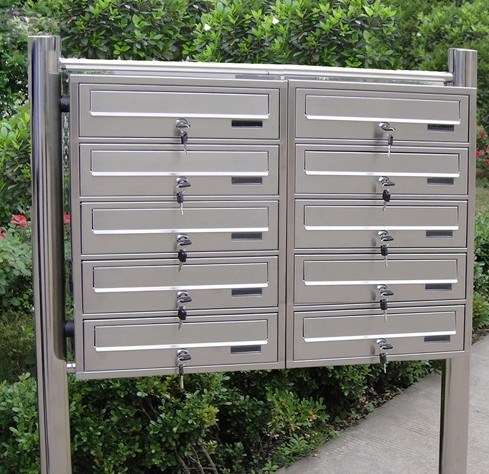 Stainless Steel Modern Design Apartment Mailbox