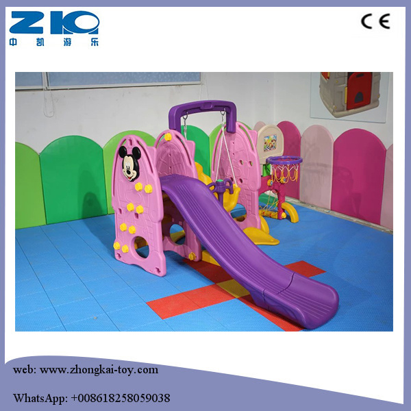 Manufacturers Children Mickey Plastic Slide and Swing Set