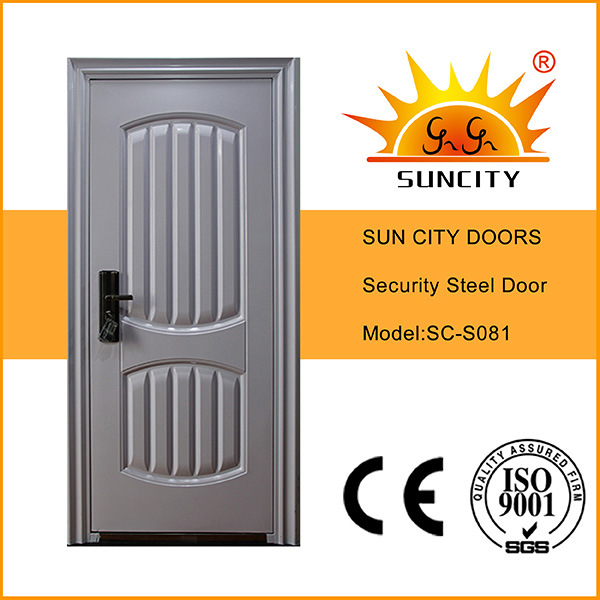Popular Steel Security Iron Door with Power Coating Finish (SC-S081)