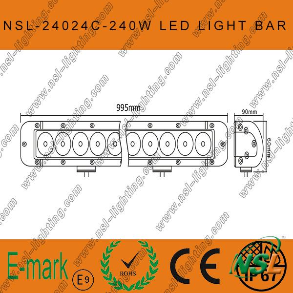 Super Bright 41inch 240W CREE Offroad SUV Truck Working Light Bar, CREE Work Lamp