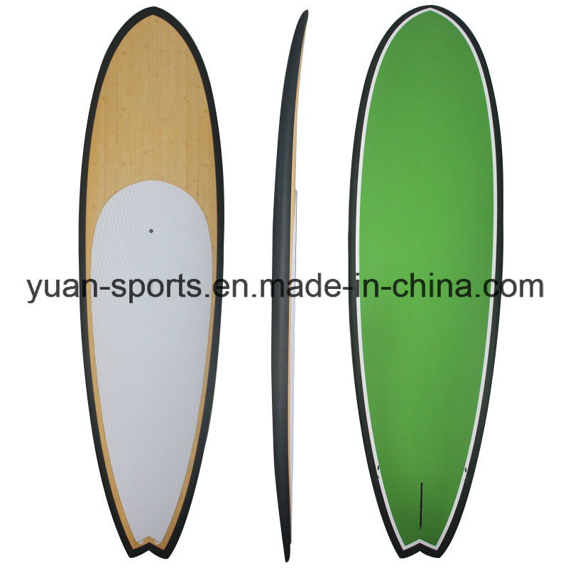 Bamboo Veneer Popular Stand up Paddle Board/Sup Surfboard with Fiberglassing Structure