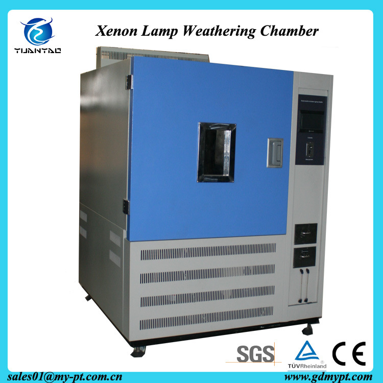 CE Certificate ASTM G155-05A Non-Metallic Materials Xenon Lamp High Acceleration Aging Test Chamber