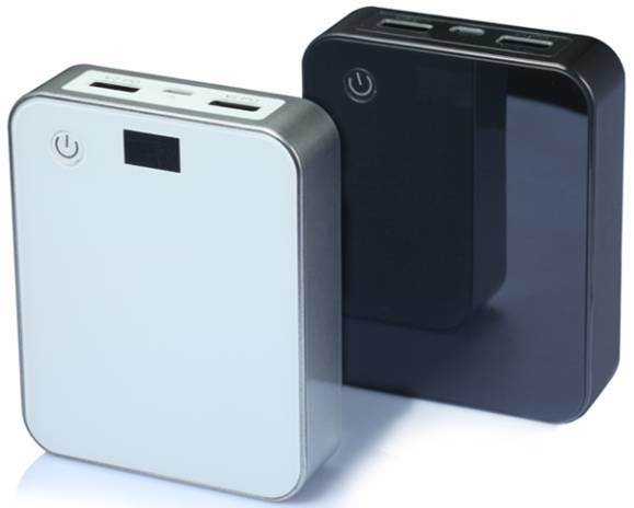 Power Bank with Dual Output 12000mAh High Capacity Portable Mobile Charger