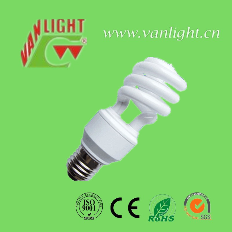 Tri-Color T3 Series Half Spiral Energy Saving Lamp