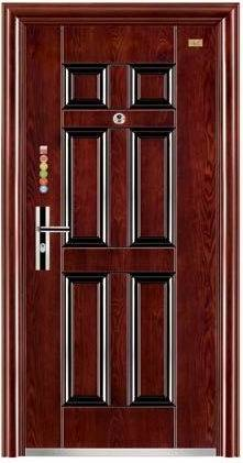 Steel Door Security Door Exterior Door Iron Door Metal Door for Overseas Market (FD-525)