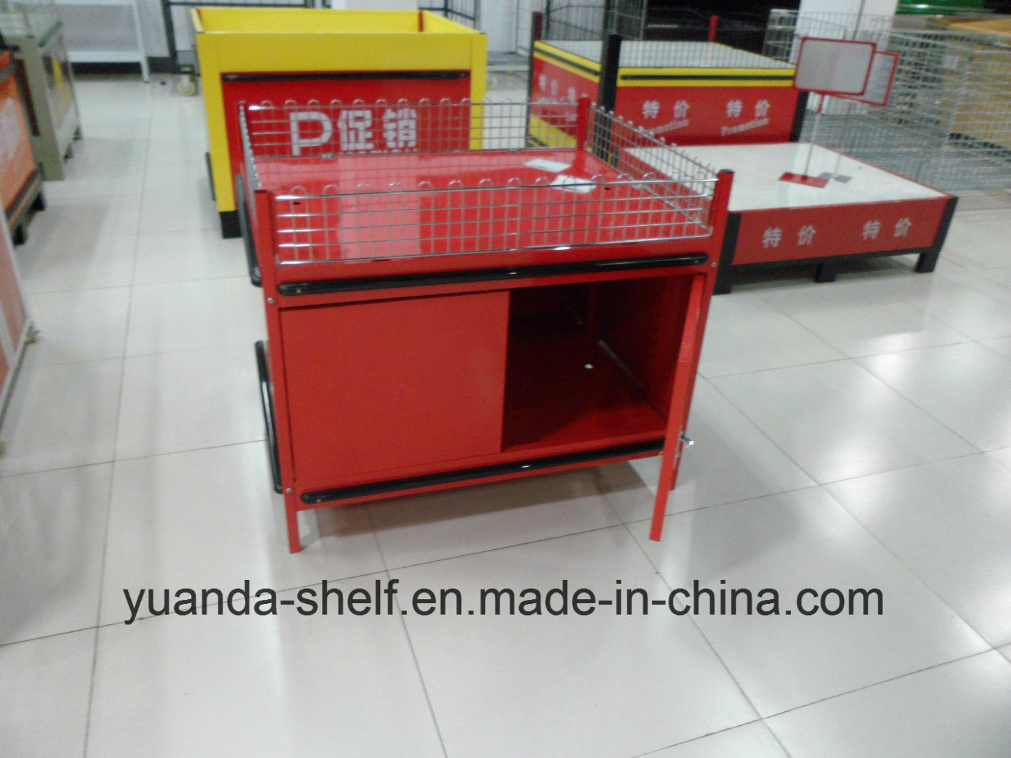 Supermarket Portable Promotional Table Display Stand