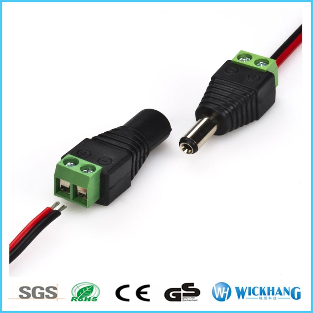 Male Mark Polarity DC Power Jack Adapter Connector Plug LED Strip