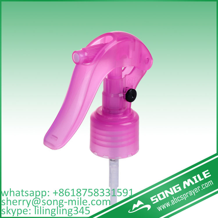 Upside Down Mirco Mini Trigger Sprayer Plastic Screw Cap for Bottles