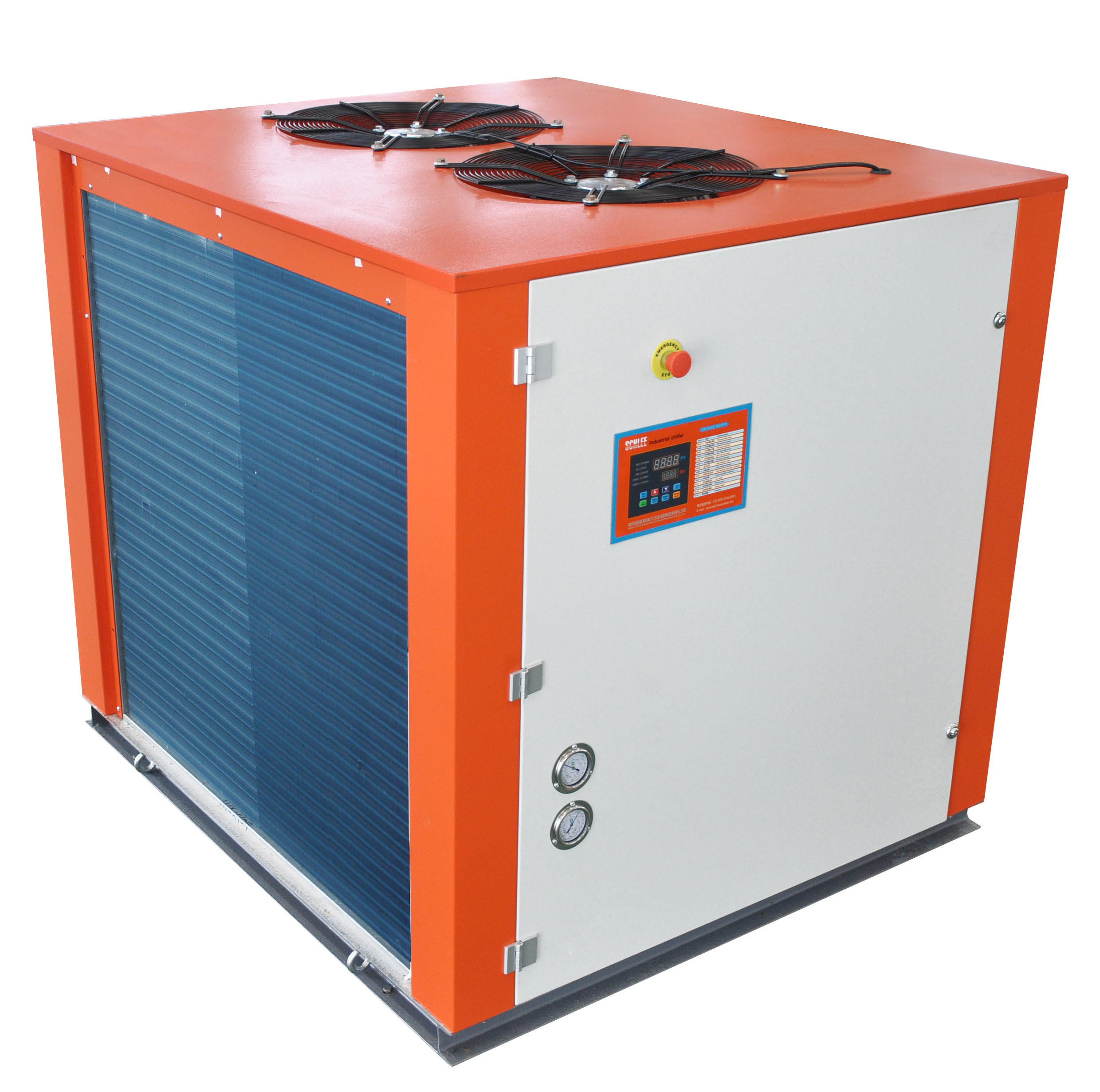 40HP Industrial Air Cooled Water Chillers for Beer Fermentation Tank