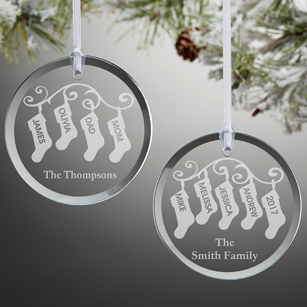 Personalized Crystal Glass Craft Party Holiday Home Xmas Tree Ornament Gift Present Ideas Christmas Decoration