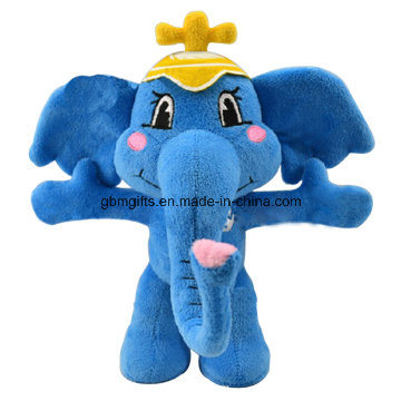Stuffed Plush Elephants with Big Ears Colorful Plush Standing Bear in Different Sizes