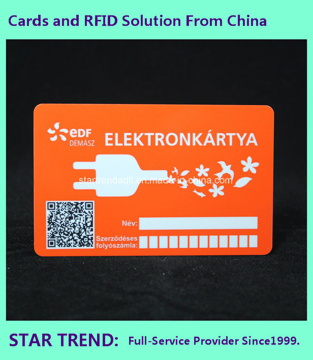 Plastic Member Card for Shopping Mall with Magnetic Stripe (ISO 7811)